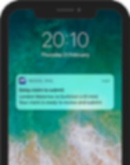 Claim to submit notification - iPhoneX (