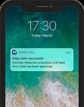 Claim successful notification - iPhone X