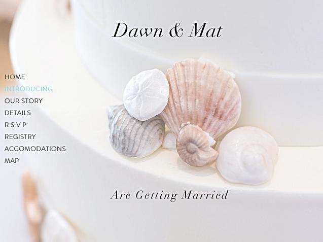 Dawn & Mat, Wedding site