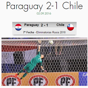 Paraguay 2-1 Chile