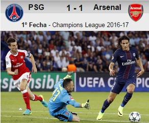 PSG 1-1 Arsenal