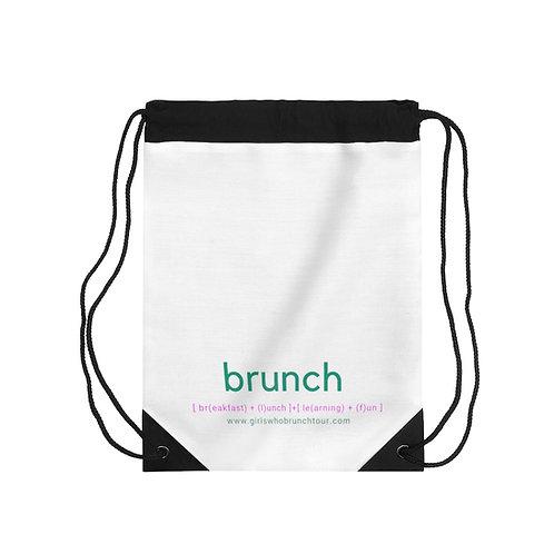 Brunch Drawstring Bag