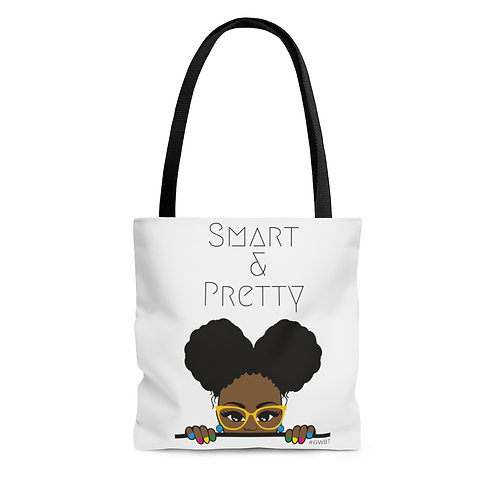 Smart and Pretty AOP Tote Bag