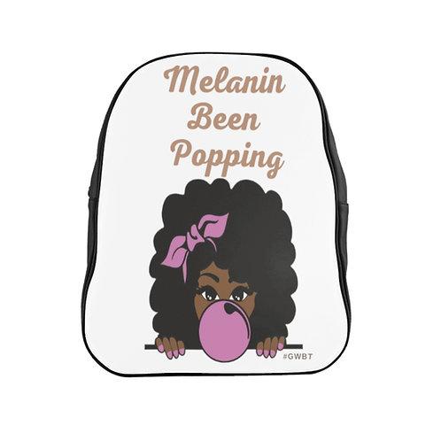 Melanin Been Popping School Backpack