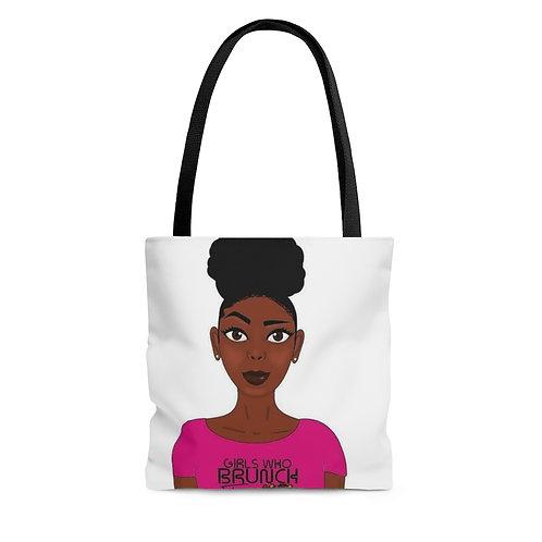 I Am a Girl AOP Tote Bag