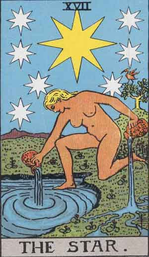 The Star from the traditional Rider Waite tarot.