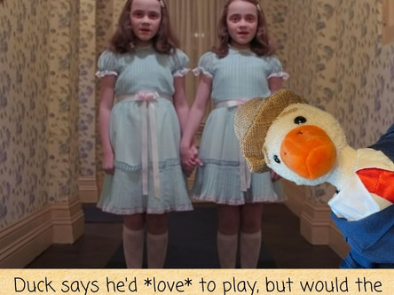 """How Duck Dealt With The Twins From """"The Shining"""""""