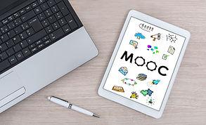 Mooc concept shown on a digital tablet.j