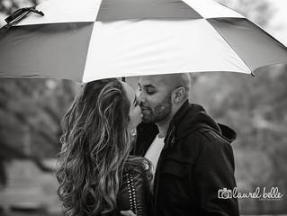 Stephanie + Jason's Rainy Day Engagement Session