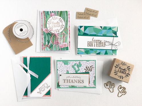 adorable cacti card making kit
