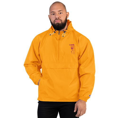 Sorry I'm Not Perfect Embroidered Champion Packable Jacket
