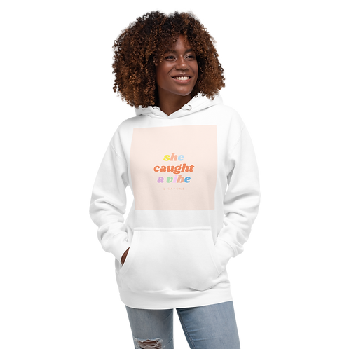 She Caught a Vibe by Q Capone Unisex Hoodie