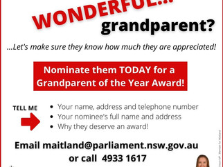 MEDIA RELEASE - Giving thanks for our grandparents