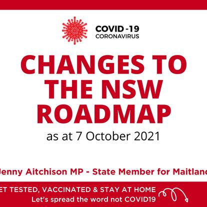 ROADMAP CHANGES - 7 October 2021