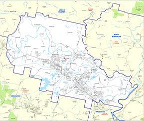 Maitland electoral map