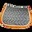 Thumbnail: Silver Crown - Tapis de selle Gris / Blanc / Orange