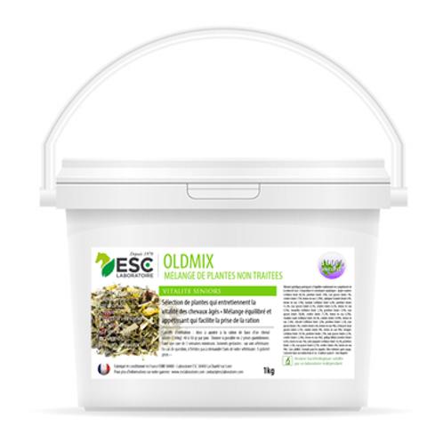 ESC Laboratoire - Oldmix – Vitalité et bien-être cheval âgé – Mélange de plantes