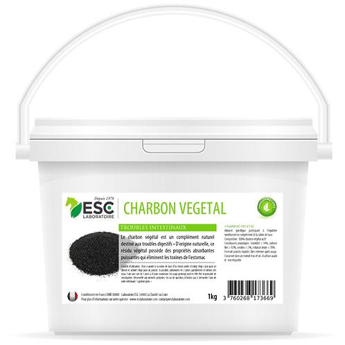 ESC Laboratoire - Charbon végétal – Confort intestinal cheval et élimination des