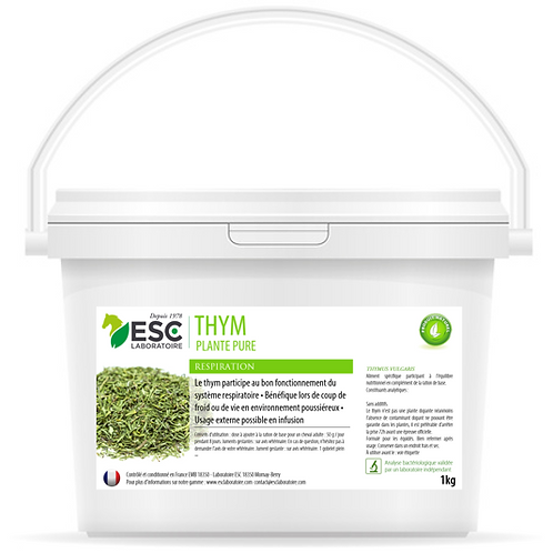 ESC Laboratoire - Thym – Toux sèche et hygiène respiratoire cheval – Plante pure