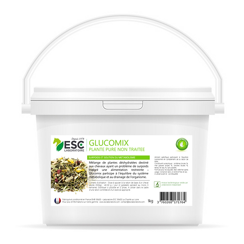 ESC Laboratoire - Glucomix – Problème de poids cheval – Mélange de plantes