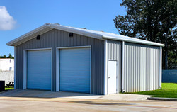 Prefabricated double shed