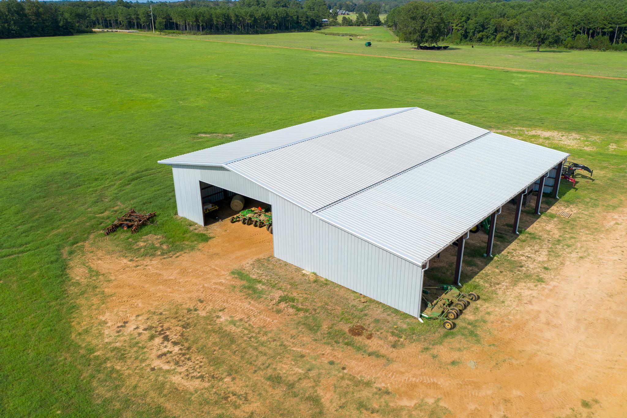 Metal Hay Barn Exterior