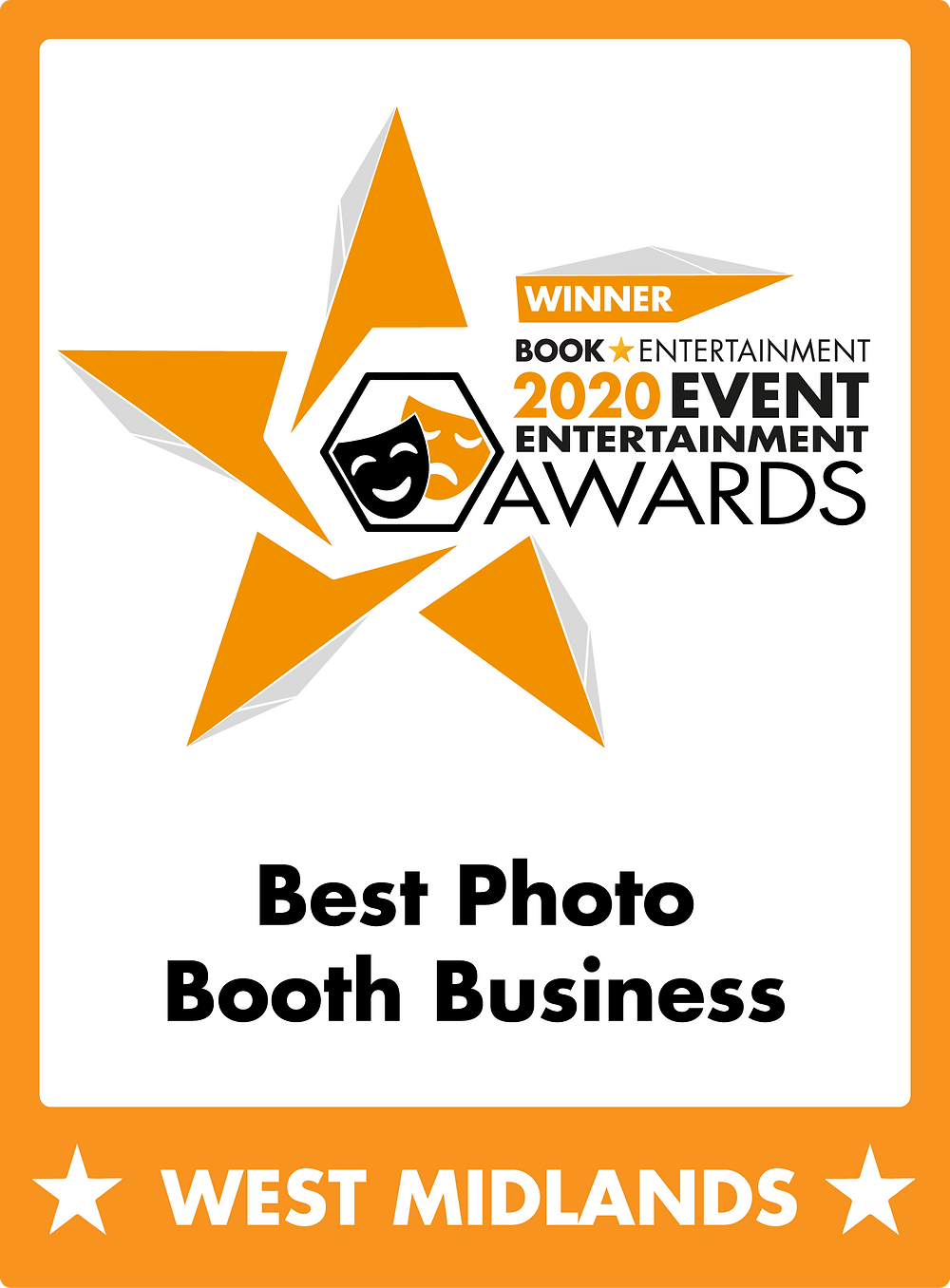 Winner of Best Photo Booth Hire West Midlands