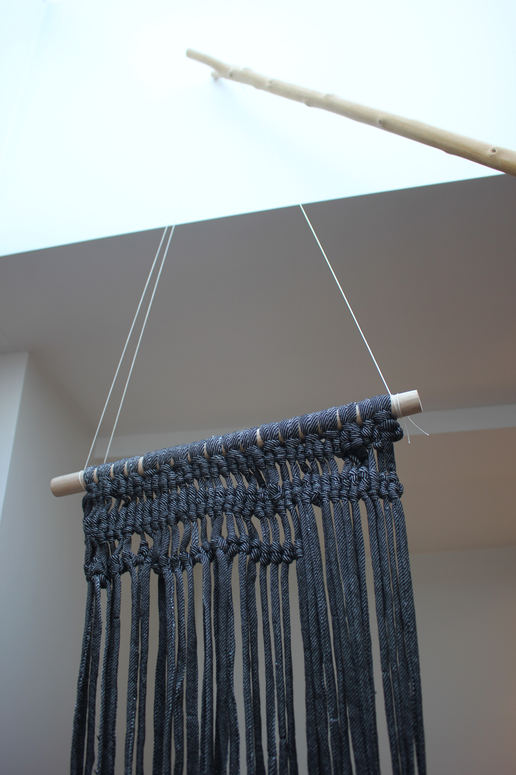 suspended weave