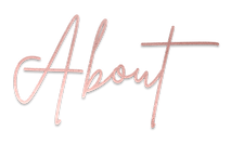 About, rose gold, brittany font