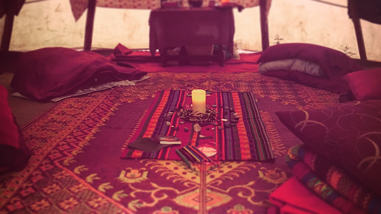 August New Moon Red Tent