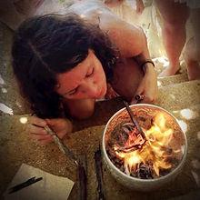 solar plexus.  tara skubella. ceremonial fire.
