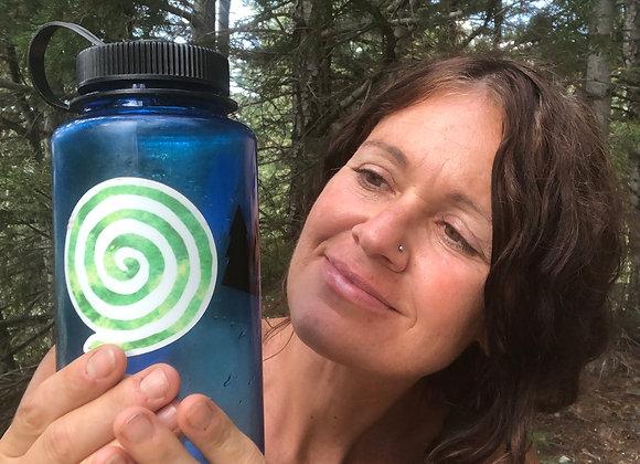 Green Spiral Sticker