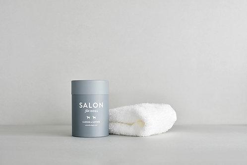 【SALON FOR DOGS】 優しいタオル  円筒ケース付き