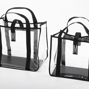 Lot de 2 sac transparents fournis avec le charriot.