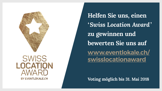 Wir sind nominiert für den Swiss Location Award 2018