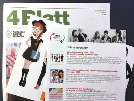 Gespräche zu Projekten, ein Kundenmagazin, Flyer für die Mittelschulen in Winterthur