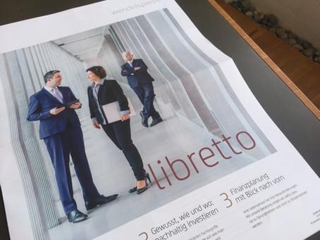 Zweite Ausgabe der Kundenzeitschrift «libretto»