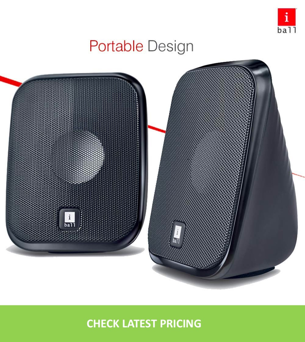 USB Powered Computer Multimedia Speakers with in-line Volume Controller