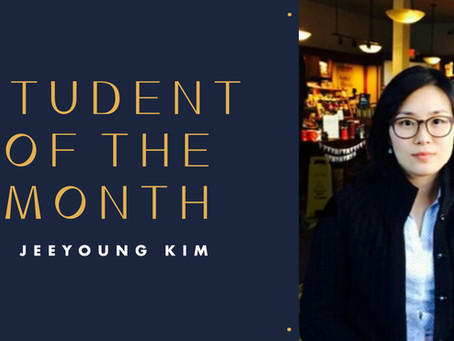 Student of the Month: Jeeyoung Kim