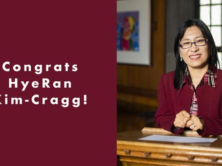 Congrats HyeRan Kim-Cragg!