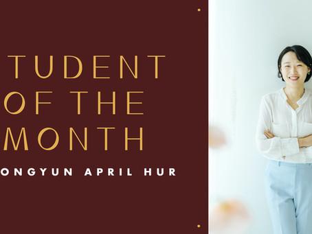 Student of the Month: Jeongyun April Hur