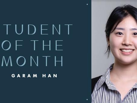 Student of the Month: Garam Han