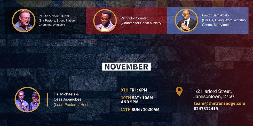5TH YEAR ANNIVERSARY   GRACE & GLORY CONFERENCE 2018