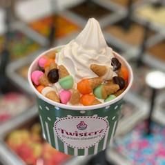 Ice cream candy on ice cream