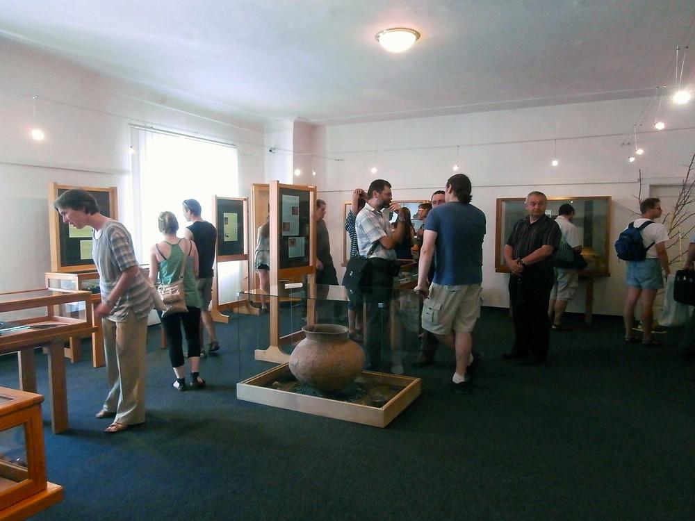 Návštěvníci si po zahájení se zájmem prohlíželi exponáty. Foto V. Mikešová