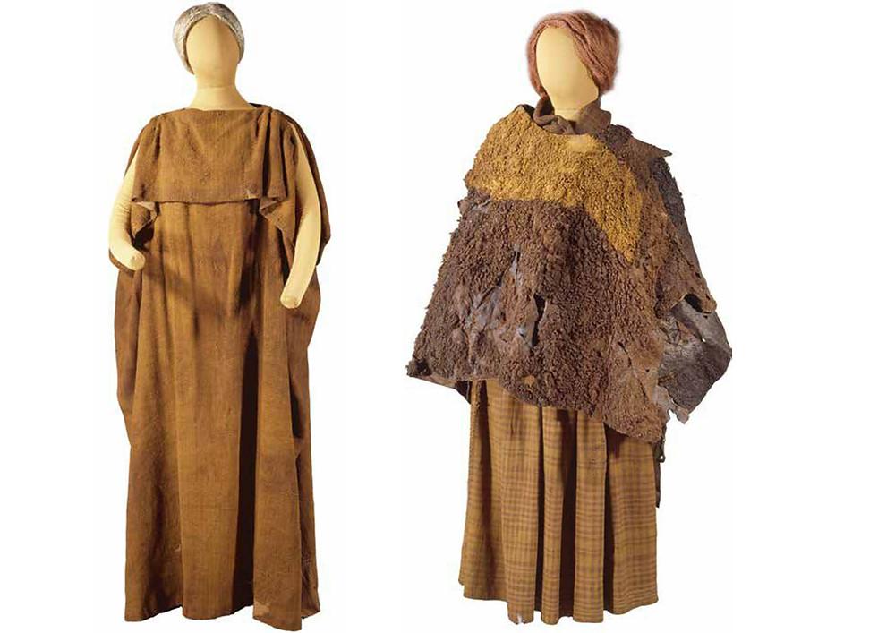 Nálezy ženských oděvů z 2. - 1. st. př. Kr. z dánského Huldremose. Zdroj foto pinterest.com