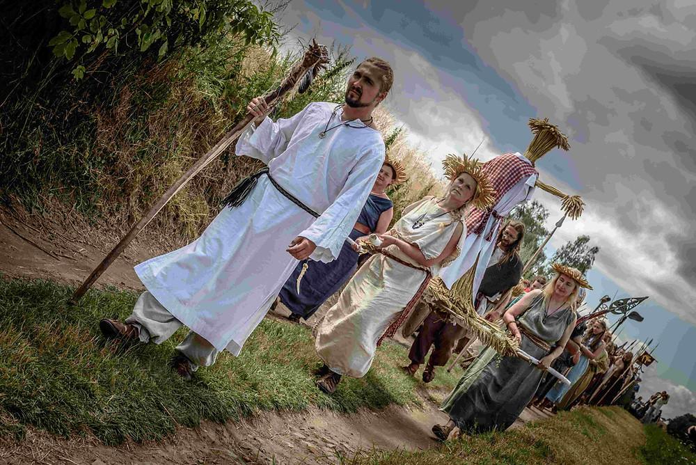 Keltský svátek Lughnasad v Zemi Keltů v Nasavrkách. (Foto: Jaromír Zajda Zajíček)