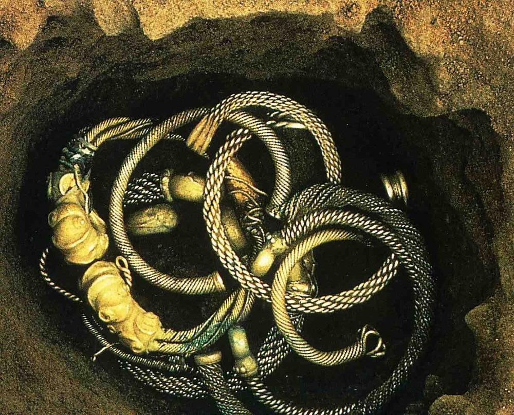 Depot keltských šperků. Zdroj viz Historyweb.sk