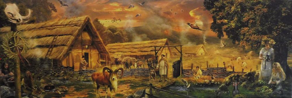 Malířův sen o době bronzové. Autor Jan Patrik Krásný