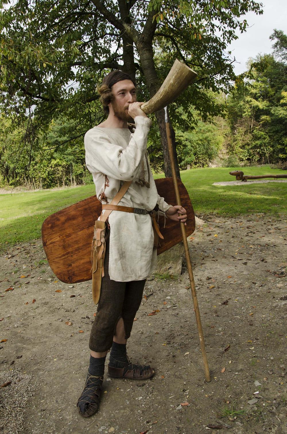 Germánský bojovník Sowul. Foto J. Lohnická